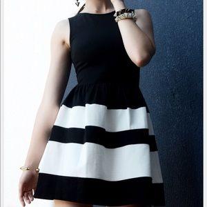 Bar III black white dress size large